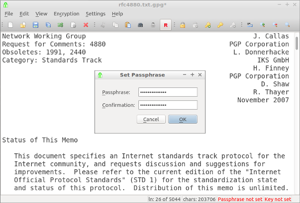 encryptpad text editor and openpgp file encryption utility